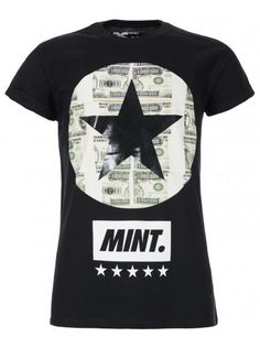 Twisted Soul Mens Black Mint Print T-Shirt, £12.99