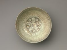 Bowl with inscription and chrysanthemums and tortoiseshell decoration | Korea | Joseon dynasty (1392–1910) | The Met