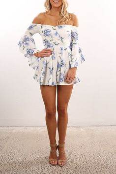 Five PM Playsuit White