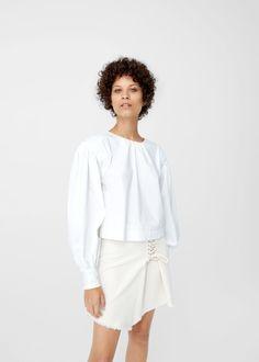 Interwoven cord skirt -  Women   MANGO USA