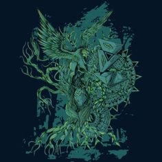 el grifo del arbol de la vida. is a Men's T Shirt designed by monsterbirdcav to illustrate your life and is available at Design By Humans
