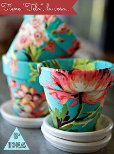35 DIY Crafts With Terra Cotta Pots 35 Basteln mit Terrakotta-Töpfen Cute Crafts, Creative Crafts, Easy Crafts, Diy And Crafts, Crafts For Kids, Arts And Crafts, Kids Diy, Crafts With Fabric, Pot Mason Diy
