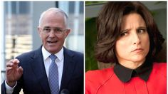 """Whoops! Malcolm Turnbull uses """"hollow"""" and """"meaningless"""" campaign slogan from Veep 