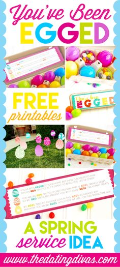 You've Been Egged Service Idea. Fun random act of kindness idea! Great activity for the kids!
