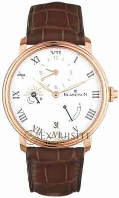 Blancpain Villeret 8 Day Half Timezone 6661-3631-55B.Double-stepped case, Roman numerals and an understated aesthetic are what characterise the Villeret models. Their pure lines, clear dials and fine cases express the essential with timeless elegance.