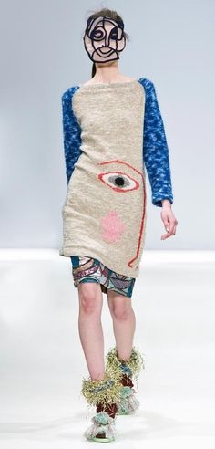 Leutton Postle Autumn Winter 2012 - are you the bold, vibrant kind of woman that would wear this??