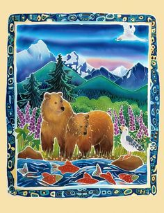 Bears And Salmon by Harriet Peck Taylor