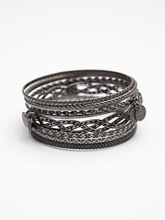 Free People Coin Drop Bangle Set $28