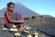 Africa: Fogo girl, Cape Verde