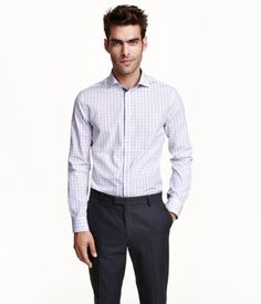 PREMIUM QUALITY. Checked shirt in premium cotton with contrasting details and a cutaway collar. Regular fit.