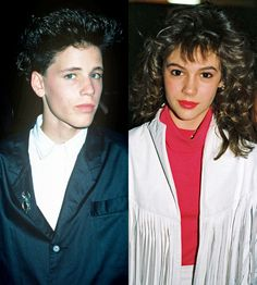 """Corey Haim and Alyssa Milano: According to the laws of Hollywood, Alyssa and Corey were bound to have dated in the '80s: They were both teen stars, and they were both hot. Alyssa and Corey didn't just have a fling either -- they dated for three years. That's, like, the equivalent of marriage in young Hollywood. When Corey died of pneumonia in 2010, Alyssa tweeted, """"Just woke up to the sad, sad news that Corey Haim passed away. RIP sweet boy."""""""