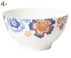 Set di 4 scodelle in porcellana Anumt Blossom - 0.75 l