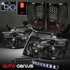 04-08 F150 SMOKE PROJECTOR HEADLIGHTS + LED TAIL LIGHTS + DAYTIME RUNNING LED | eBay Motors, Parts & Accessories, Car & Truck Parts | eBay!