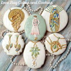art nouveau jewelry cookies
