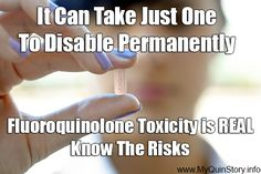 It can take just one pill to disable permanently. Fluoroquinolone Toxicity is REAL. Know the risks. Rare Disease, Nerve Pain, Pharmacology, Invisible Illness, Know The Truth, Autoimmune Disease, Chronic Illness, Disability, Fibromyalgia
