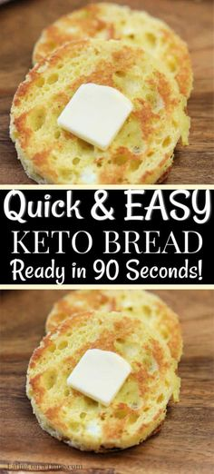 Are you looking for a quick and easy, keto friendly bread recipe? This 90 second keto bread recipe is made in the microwave with almond flour and is the best low carb bread recipe. Enjoy this bread alone or with one of our other amazing keto recipes! Keto Bread Coconut Flour, Keto Banana Bread, Almond Flour Recipes, Keto Mug Bread, Almond Meal, Coconut Recipes, Almond Butter, Coconut Oil, Easy Keto Bread Recipe
