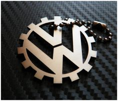 VW Volkswagen gear Keychain key tag by akta01WorkShop on Etsy