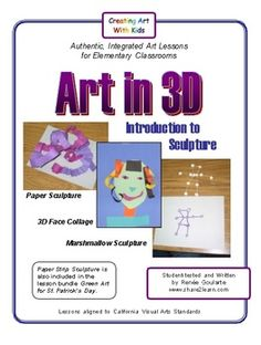 Art in 3D - Introduction to Sculpture ... fun with paper and marshmallows