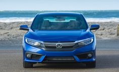 2017 Honda Civic front view, headlights and grille