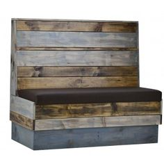 Commercial Quality Restaurant Furniture Indoor Industrial Recaimed Wood Booth Seating Order It Now At ContractFurniture