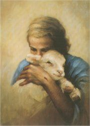 I love this picture. He will feed his flock like a shepherd. He will gather the lambs in his arms. He will carry them in his bosom and gently lead those that are with young.   Isaiah 40:11