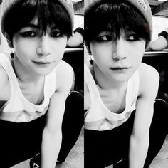 Hansol (The scary thing is, you can count his ribs just by looking at his chest)