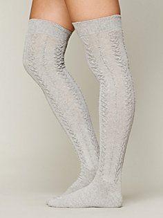 Aran Tall Sock in accessories-socks-legwear from Free People.