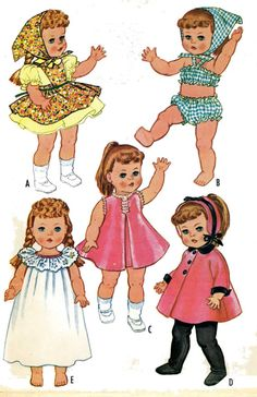 Ruthie Patsy Ann Doll Clothes PATTERNS 2466 for by BlondiesSpot