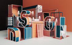 Peter Tarka y su tipografía en Design 3d, Display Design, Booth Design, Graphic Design, Exhibition Stand Design, Exhibition Display, Typography Inspiration, Design Inspiration, 3d Cinema