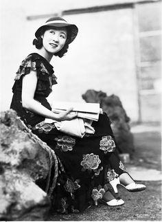 Japanese star Kinuyo Tanaka, 1940s (1910-1970) star of films in Japan.