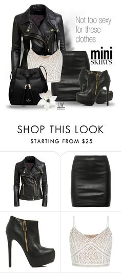 """""""Not to Sexy for These Clothes"""" by kashmier ❤ liked on Polyvore featuring The Row, Kate Spade, blackleather, MINISKIRT, polyvorecontest and leatherwooddesign"""