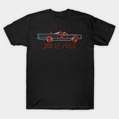 The Bat Mobile 1966 T-Shirt - Batman T-Shirt is $13 today at TeePublic! Batman Stuff, Batman T Shirt, Batmobile, Back To The Future, Dc Comics, Retro, Shirts, Things To Sell, Dress Shirts