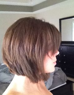 side bangs with inverted bob