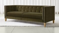 Liked this Aidan Velvet Sofa maybe for the formal sitting room?   Crate and Barrel