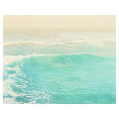 beach photograph. surge. ocean wave Hermosa Beach California aqua cyan... ❤ liked on Polyvore
