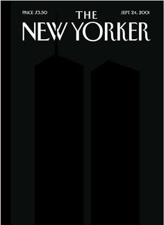 After the horrific incident of 9/11, The New Yorker paid tribute to the victims through this artistic cover.   Ad Reinhardt's Black on Black art provided inspiration to Franoise Mouly and Art Spiegelman who drew this sketch.