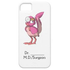 Doctor Berry Yogurt Reptilian Bird iPhone Case (in Honor of National Doctor's Day)  75% of the product royalty I receive will be donated to autism research.  #zazzle #artofganenek #nationaldoctorsday #reptilianbirds #pink