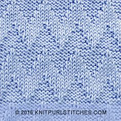 Shadow Chevron - Just Knit Purl Stitches