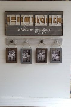 cool Rustic HOME sign, Home, Where our story starts, Country decor, Wedding shower gi... by www.danaz-home-de...