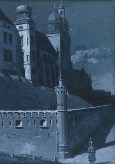 blastedheath:  Stanisław Witkiewicz (Polish, 1851-1925), Wawel, 1889. Gouache and ink on cardboard, 27 x 19.5 cm.