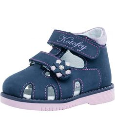 9d9782aba1 Girls Blue Sandals 122104-22 Genuine Leather Orthopedic Sandals with Arch  Support - C818NS86GDG