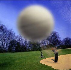 Golf ball at speed