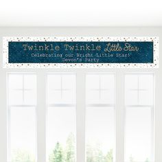 Twinkle Twinkle Little Star - Personalized Party Banners | BigDotOfHappiness.com