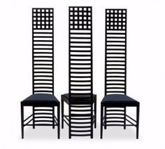 Modern Classics Charles Rennie Mackintosh Hill House Chairs