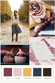 I really adore these colors; they would be perfect for an autumn wedding.