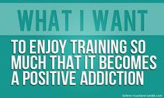 Check! I love training!