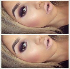Smokey eye   nude lip   pink bronzed cheeks
