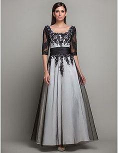 Vestido Largo Princesa Satén con Encaje de color marfil @ Vestidos de Fiesta Baratos