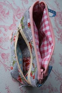 Tutorial Zippered Pouch - tut not in English, but hope I can follow the photos! love this pouch...