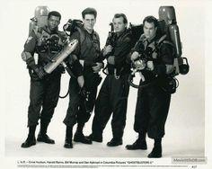 Harold Ramis, Dan Aykroyd, Bill Murray, and Ernie Hudson in Ghostbusters II 1989